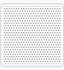 Polka / Dots - White / Black - Small Sticker