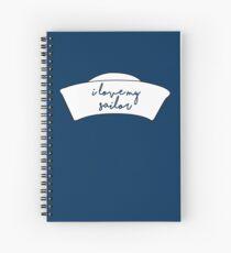I Love My Sailor Spiral Notebook