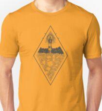 Minimalist Woodcut Lighthouse Unisex T-Shirt