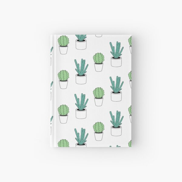 Green Cactus Print Hardcover Journal