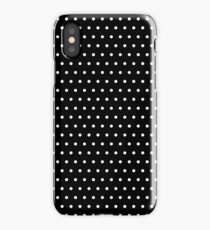 Polka / Dots - Black / White - Small iPhone Case/Skin