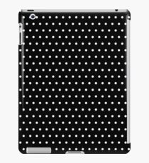 Polka / Dots - Black / White - Small iPad Case/Skin