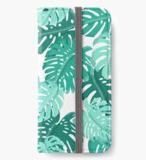 Tropical Green Monstera Print  iPhone Wallet/Case/Skin