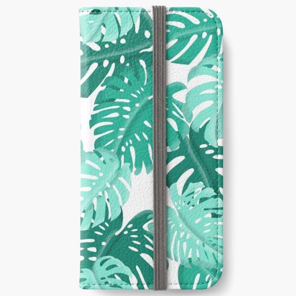 Tropical Green Monstera Print  iPhone Wallet