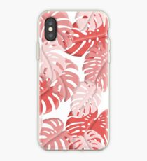 Tropical Monstera Print iPhone Case
