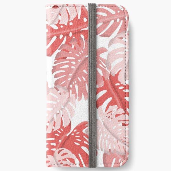 Tropical Monstera Print iPhone Wallet