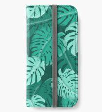 Tropical Dark Green Monstera Print  iPhone Wallet/Case/Skin