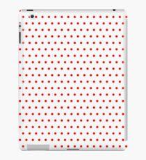 Polka / Dots - White / Red - Small iPad Case/Skin