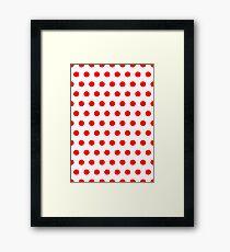 Polka / Dots - White / Red - Medium Framed Print