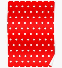 Polka / Dots - Red / White - Small Poster