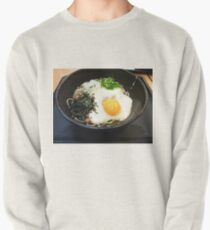 Raw egg on soba Pullover