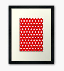 Polka / Dots - Red / White - Medium Framed Print