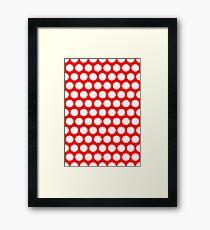 Polka / Dots - Red / White - Large Framed Print