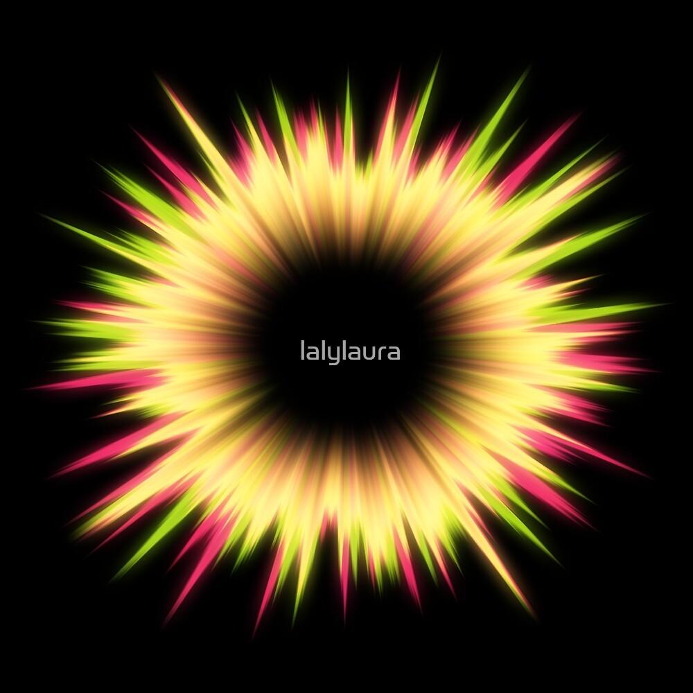 Light burst abstract design by lalylaura