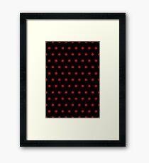 Polka / Dots - Red / Black - Small Framed Print