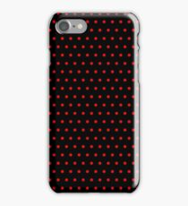 Polka / Dots - Red / Black - Small iPhone Case/Skin