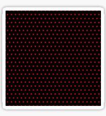 Polka / Dots - Red / Black - Small Sticker