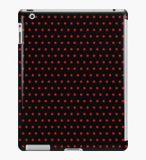 Polka / Dots - Red / Black - Small iPad Case/Skin
