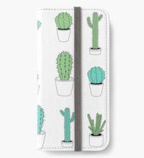 Multi Cactus Print  iPhone Wallet/Case/Skin