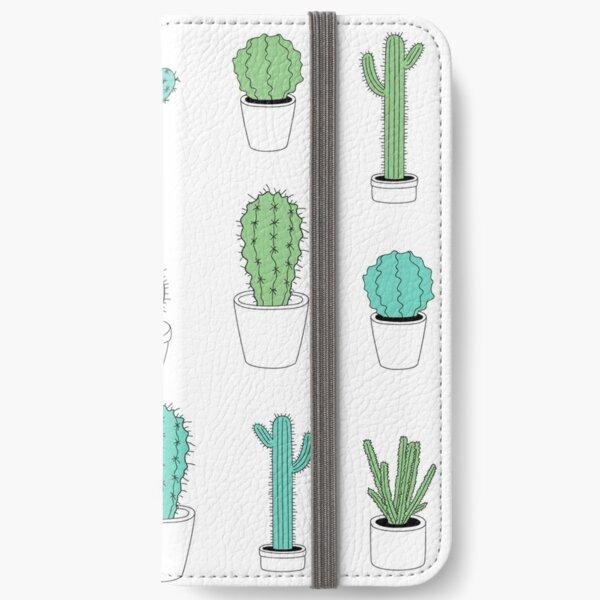 Multi Cactus Print  iPhone Wallet