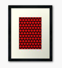 Polka / Dots - Red / Black - Large Framed Print