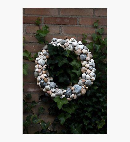 Seashell Wreath Photographic Print