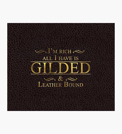 Trendy Gold Leaf Gilding Fashion Photographic Print