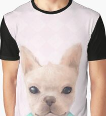 Portrait Of French Bull Dog Graphic T-Shirt