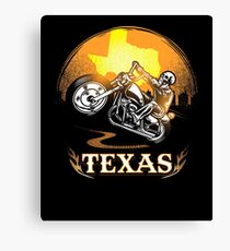 Texas Motorcycle Gang Hobby Graphic Design  Canvas Print