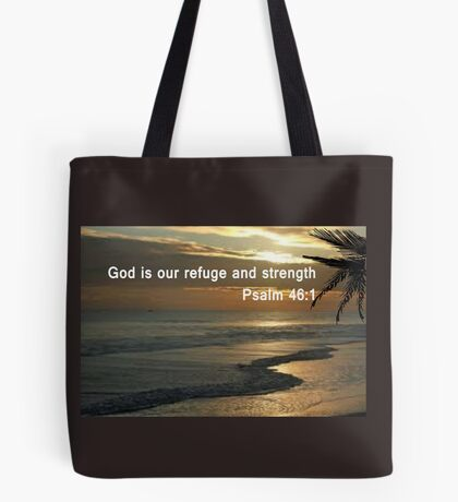 Psalm 46:1  print & pearl pattern     (5512 Views)  Tote Bag
