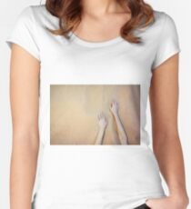 Sandy Dune Nude - The Hands Women's Fitted Scoop T-Shirt