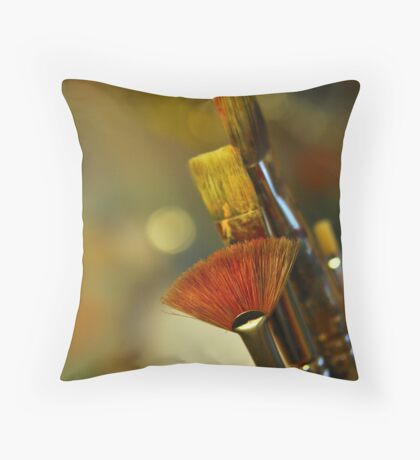 Art Tools Throw Pillow