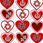 red heart pattern (154 Views) by aldona
