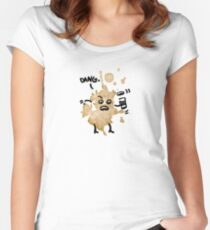 Coffee Spill Women's Fitted Scoop T-Shirt