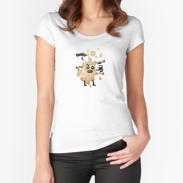 Coffee Spill Fitted Scoop T-Shirt