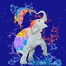 Watercolour Splashes Elephant by elee