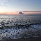 Dromana coast sunset in pink & grey by Victoria McGuire