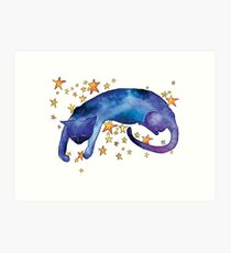 Celestial Cat Nap Art Print