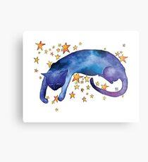 Celestial Cat Nap Metal Print