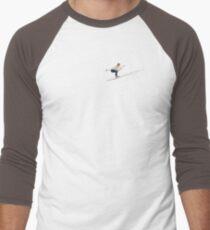 Paradoxical Slide.....Acrylic based mixed media Men's Baseball ¾ T-Shirt