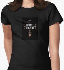 TrowelBlazers Logo BLACK Womens Fitted T-Shirt