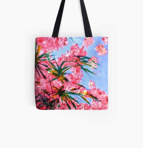 Oleander 2 All Over Print Tote Bag