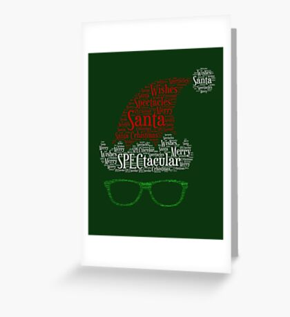 Santa Loves His Spectactular Christmas Specs Greeting Card