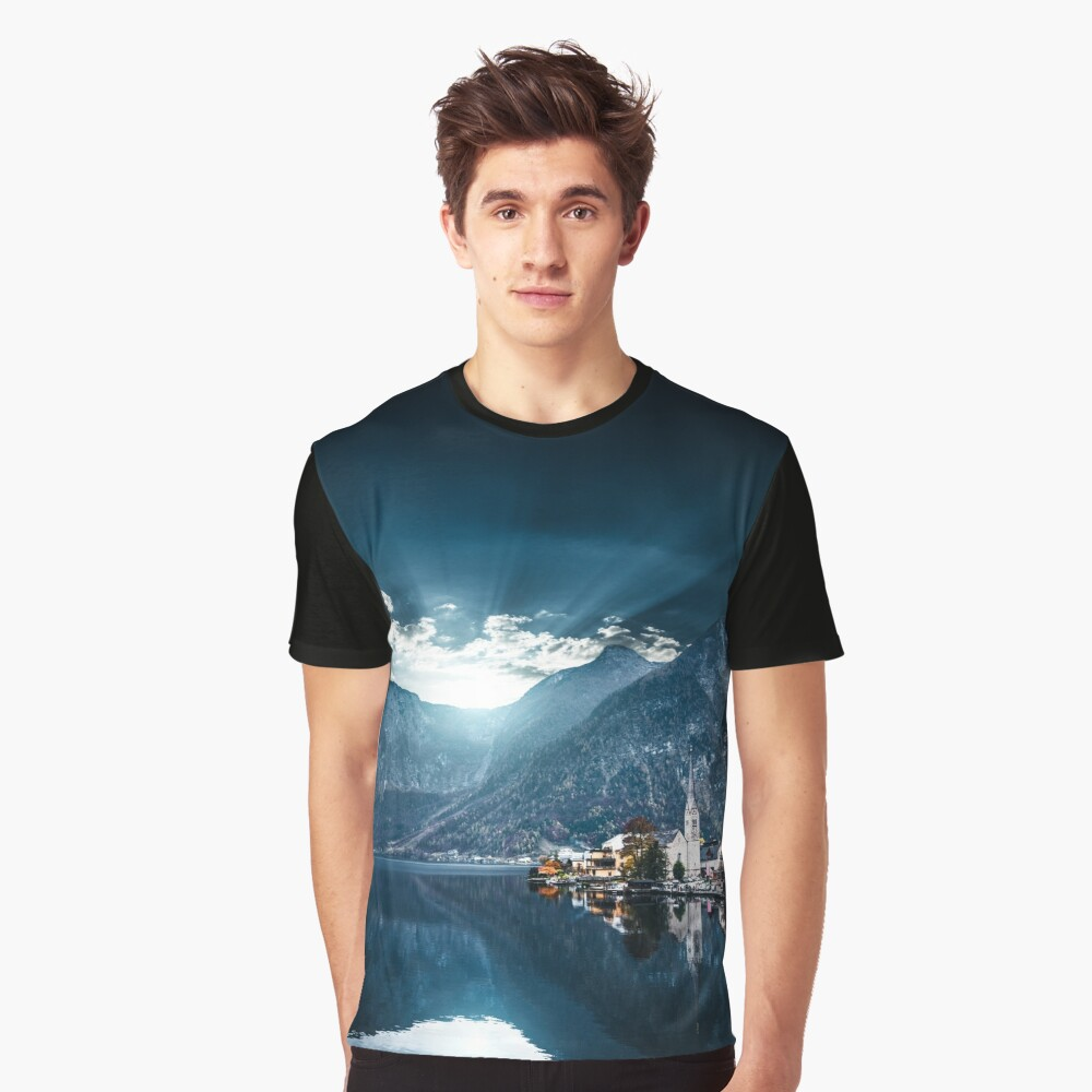 hallstatt in austrian alps Graphic T-Shirt