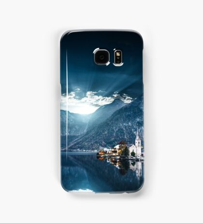 hallstatt in austrian alps Samsung Galaxy Case/Skin