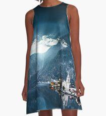 hallstatt in austrian alps A-Line Dress