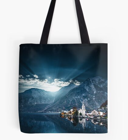 hallstatt in austrian alps Tote Bag