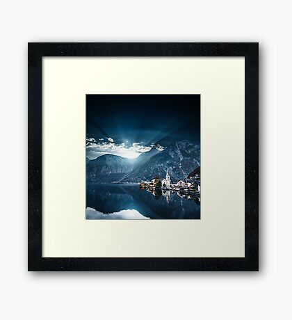 hallstatt in austrian alps Framed Print