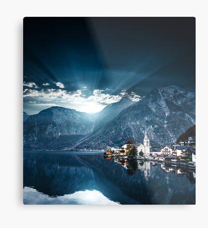 hallstatt in austrian alps Metal Print