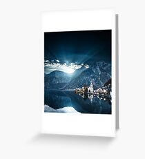hallstatt in austrian alps Greeting Card